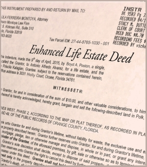 Copy of an Enhanced Life Estate Deed